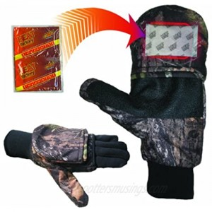 Heat Factory Gloves with Pop-Top Mittens with Hand Heat Warmer Pockets