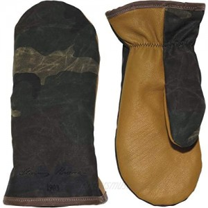 Stormy Kromer Waxed Tough Mitts - Water-Resistant Goatskin Palm Warm Winter Mittens