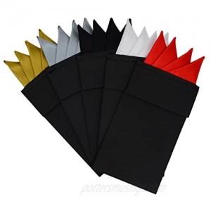 5pcs Pre Folded Pocket Squares Set for men on card  Mens Formal Suits Prefolded Handkerchiefs For Wedding Party HS6