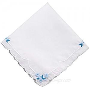 Lillian Rose Something Blue Hankie 12 White