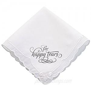 Lillian Rose Wedding Happy Tears Keepsake Hankie 12 White