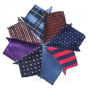 Pybider 8 Pack Men's Pocket Squares Handkerchiefs Set Assorted Colors for Wedding Business Daily Occasion