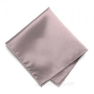 TieMart Quartz Solid Color Pocket Square