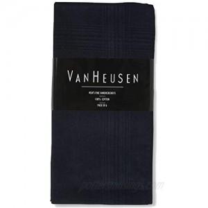 Van Heusen 6 pack Handkerchiefs (Jet Black)