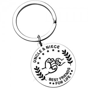 CaseTank Gifts for Fathers Day Uncle Gifts  Keychain Gift for Uncle Men Birthday Christmas  Father's Day Thanksgiving Gift Blessing Gifts from Niece Nephew
