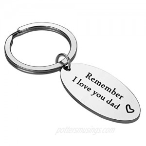 Gifts for Dad from Daughter - Remember I Love You Dad Keychain from Daughter Father's Day Birthday Gifts for Dad from Son Daughter