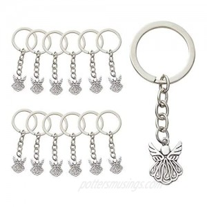 Guardian Angel Keychains  Funeral Favors (3 In  Silver  60 Pack)
