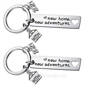 New Home Keychain 2021 Housewarming Gift for New Homeowner House Keyring Moving in Key Chain New Home Owner Real Estate Agent