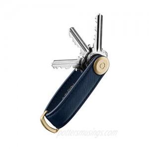 Orbitkey Saffiano Leather Key Organizer   Holds up to 7 Keys