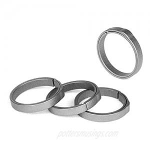 TISUR EDC Titanium Keyring Side-Pushing Designed (4-Pack) Key Chain Key Rings Holder Split Rings Group Your Keys