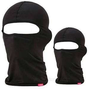 Balaclava Face Mask  2 Pack Lightweight Motorcycle Black Warmer Ski Mask for Men Bandana