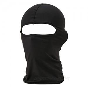 falapala Balaclava Tactical Face Mask Hood Neck Gaiter 1 Pack (Black)