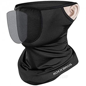 LUXSURE Cooling Neck Gaiter Face Mask for Men and Women  Gaiter Mask/Neck Gaiters with Filter and Ear Loops | Washable Neck Gators Face Mask for Men  Breathable Scarf Mask/Face Cover Mask