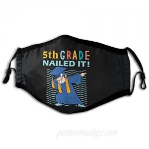 Mask- 5th Grade Nailed It-5th Grade Graduation Gift Unique Dust-Proof Premium Mask M-Shaped Nose Clip Unisex Black