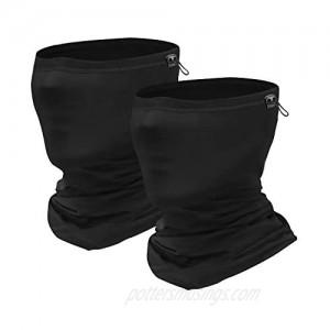 Sheenwang Adjustable Neck Gaiter  Cooling Face Cover  Breathable Neck Mask for Men  Women (2 Pack)