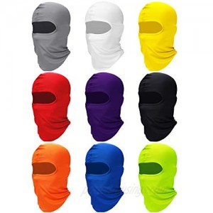 Zhanmai Full Face Cover UV Protection Neck Gaiter Breathable Balaclava Hood for Outdoor Motorcycle Cycling