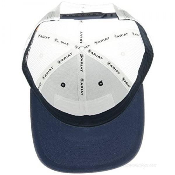 ARIAT Men's Shield Flag Center Patch Mesh Cap Blue One Size