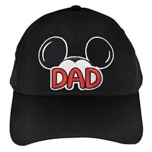 Disney Men's Cotton Mickey Mouse Dad Fan Baseball Cap