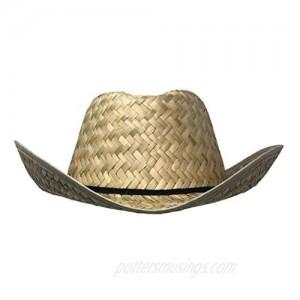 CHAPEAU TRIBE Low Crown Westen Cowboy Straw Hat