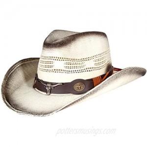 Enimay Men's & Women's Western Style Cowboy/Cowgirl Straw Hat