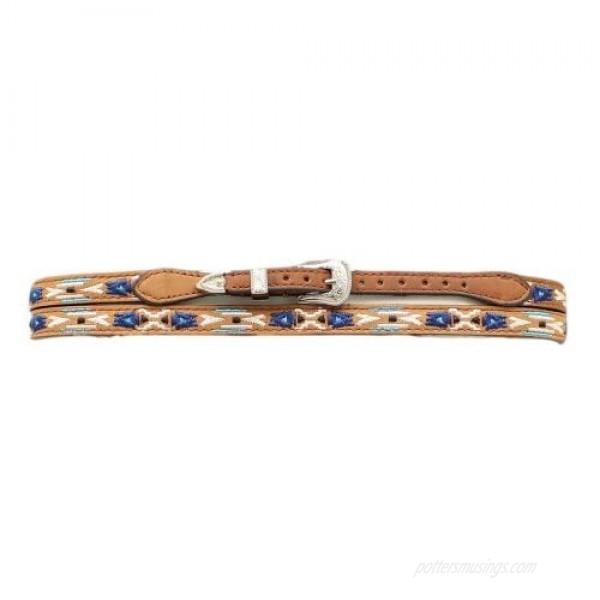 M & F Western Mens MF Brown Aztec Design Hat Band Brown/Multi