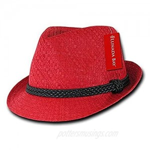 DECKY Paper Straw Fedora Red Large/X-Large