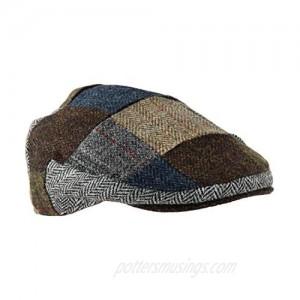 Genuine Harris Tweed Patch Flat Cap Men and Women Made by Glen Appin of Scotland Similar to Irish Tweed