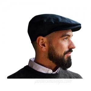 Hanna Hats of Donegal Handmade Irish Flat Cap for Men Driving Cap Made in Ireland 100% Linen