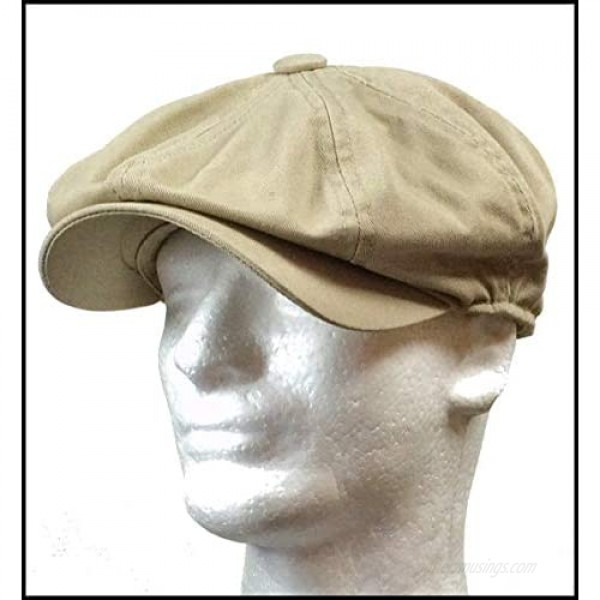 Rooster Washed Cotton Newsboy Gatsby Ivy Cap Golf Cabbie Driving Hat