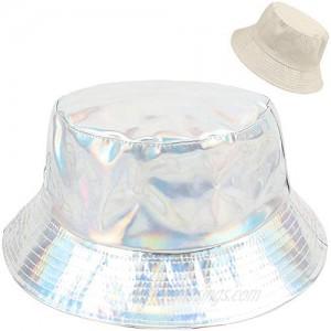 XYIYI Women Rain Hats Waterproof Rain Hat Wide Brim Bucket Hat Rain Cap  Double-Side-Wear