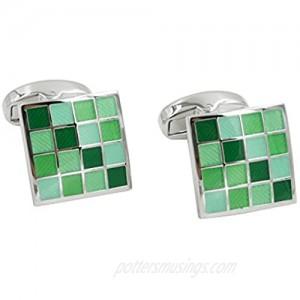 Jade Coral Green Cufflinks | 35th Wedding Anniversary Present | Husband Pressie for Men | Marriage Ceremony Cuff Links