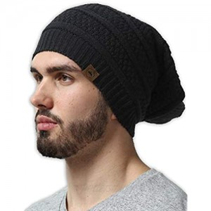 Slouchy Winter Beanie Knit Hats for Men & Women - Oversized Long Slouch Beanie Cap - Warm & Soft Cold Weather Toboggan Caps