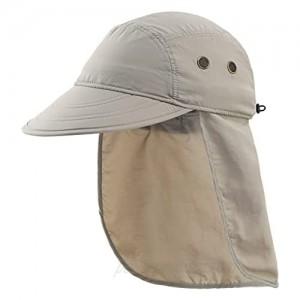 Connectyle Mens UV Sun Protection Cap Safari Hike Cap with Neck Flap Fishing Hat