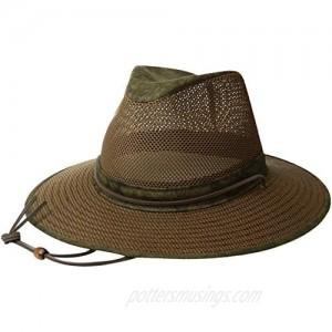 Henschel Hats Aussie Breezer 5310 Cotton Mesh Distress Gold Hat Medium