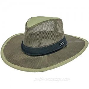 Mesh Crown Safari Sun Hat 3 Brim Adjustable Chin Cord UPF (SPF) 50+ Sun Protection