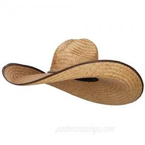 SOLID WING 7 Inch Brim Light Straw Hat