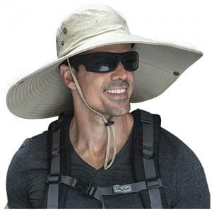 Super Wide Brim Men Fishing Sun Hats  Garden Outdoor Travel Women Bucket Cap  Hiking Safari Boonie Hat