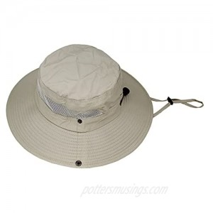 Women and Men Summer Mesh Wide Brim Sun Hat with Adjustable Chin String  Breathable and Foldable.
