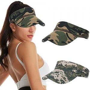 2PCS Sun Visors Hats for Women & Men Adjustable Sports Caps for Golf Running Summer Beach