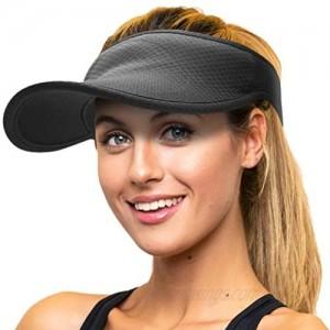 Black Sun Visors for Women and Men  Adjustable Sun Visor Hats for Women  Sports Visor  Golf Visor  Tennis Visor and Running Visor