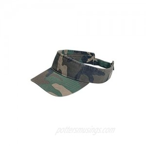 Camouflage Pattern Washed Outdoor Sun Visor