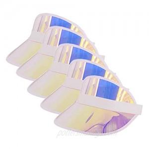 Surkat Plastics Multicolored Sun Visors UV Protection Hat Cap Headwear for Golf Tennis Cycle