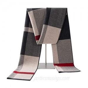 Lallier Men's 100% Merino Wool Scarf Long Winter Neckwear with Gift Box
