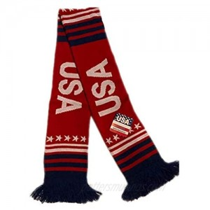 USA Scarf Winter Warm Knitted Wrap Outdoor United States 4ft long