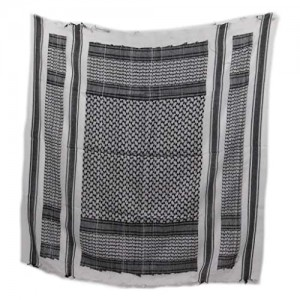 """Shemagh Tactical Scarf  Middle Eastern Desert Scarf  Keffiyeh  Military Style  100% Cotton  42"""" x 42""""  Bandana  Hood"""