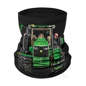 John Deere Adult Neck Gaiter with John Deere Tractor  Black