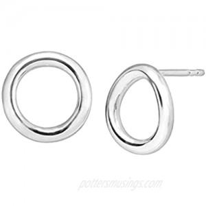 Silpada 'Karma' Open Circle Stud Earrings in Sterling Silver