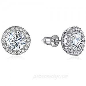 Stud Earrings Earrings for Girls Fashion Jewelry Cubic Zirconia Halo Earrings for Women Men