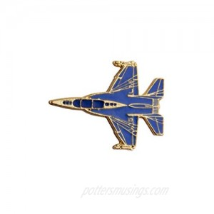 A N KINGPiiN Blue Fighter Jet Aircraft Lapel Pin Badge Gift Party Shirt Collar Costume Pin Accessories for Men Brooch