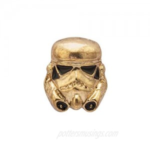 A N KINGPiiN Lapel Pin for Men Gold Mask Brooch Costume Pin Shirt Studs Men's Accessories